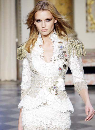 Zuhair Murad - Military Style Dress Suit for Women, love!