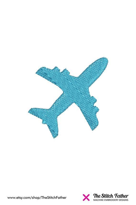 Plane Machine Embroidery design – Mini Airplane - Plane