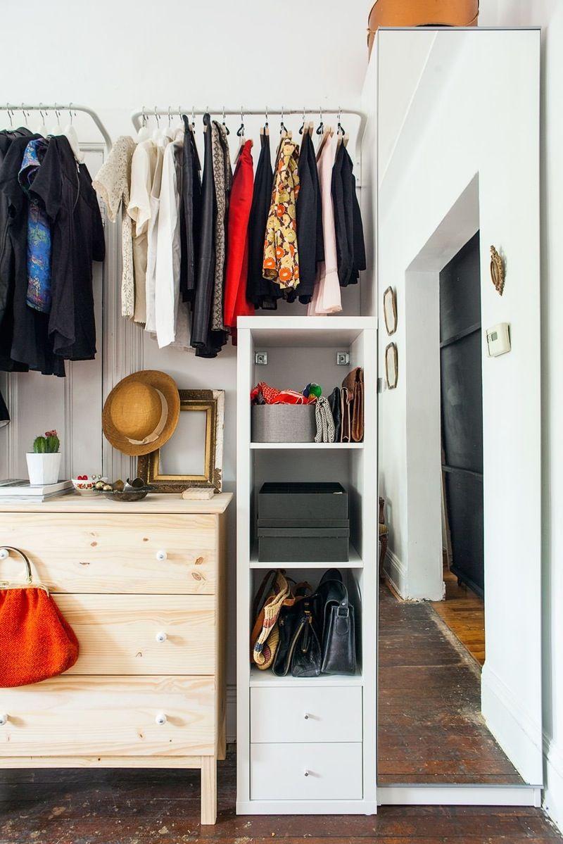Studio Apartment Closet Solutions real life solutions for apartments with no closets | garment racks