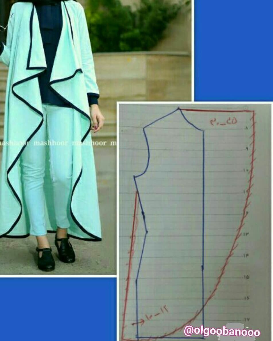فروش الگوی خیاطی On Instagram آموزش مدل مانتو جلو باز فروش الگوهای پیشرفته Blouse Pattern Sewing Tunic Sewing Patterns Dress Sewing Patterns