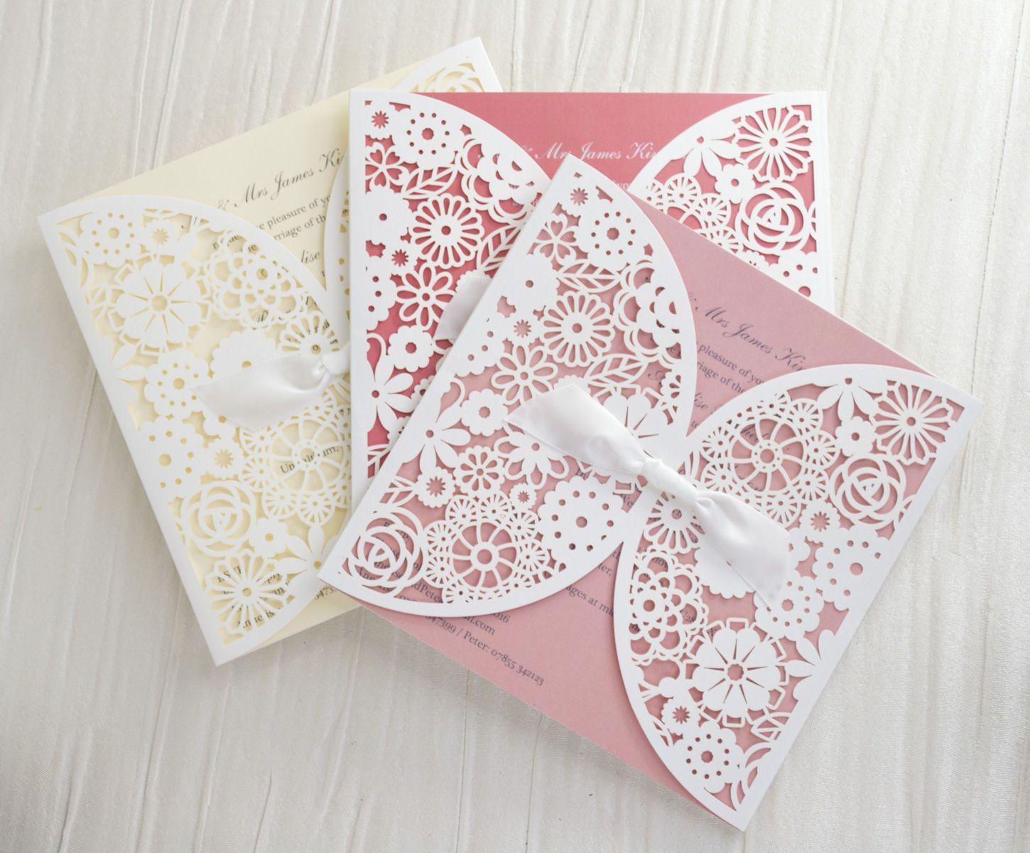 Personalised-Lace-Wedding-Invitations-Invites-Laser-Cut-from-UK ...