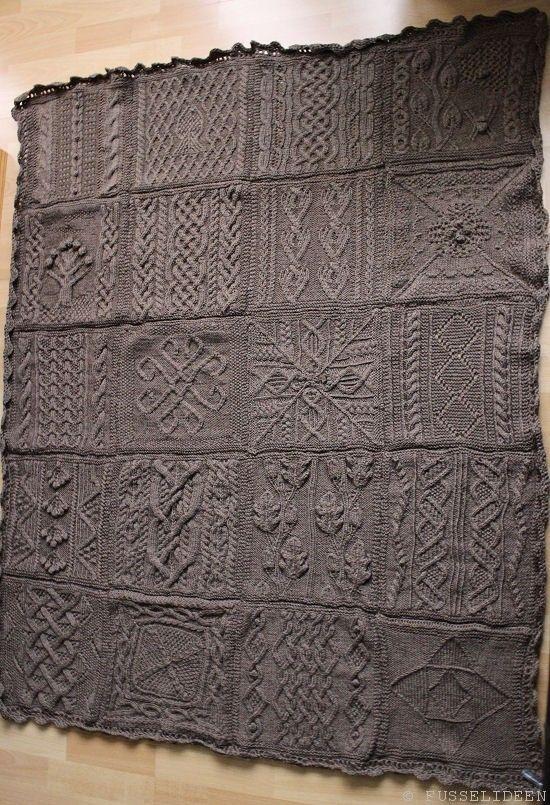 Great American Aran Decke Von Fusselideen De Wolldecke Stricken Patchworkdecke Stricken Decke Stricken Anleitung