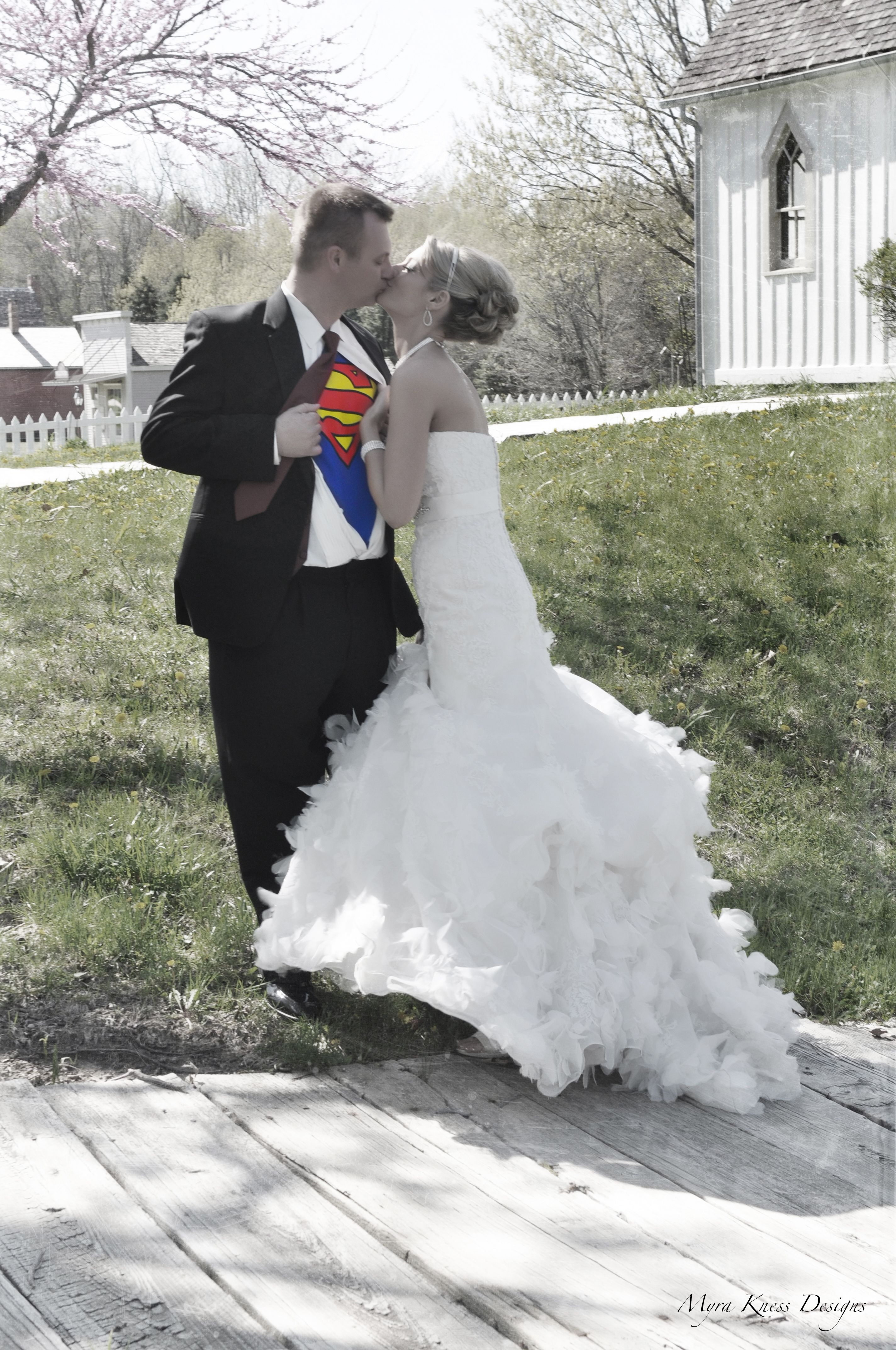 Vintage looking superman wedding picture! | Wedding | Pinterest ...