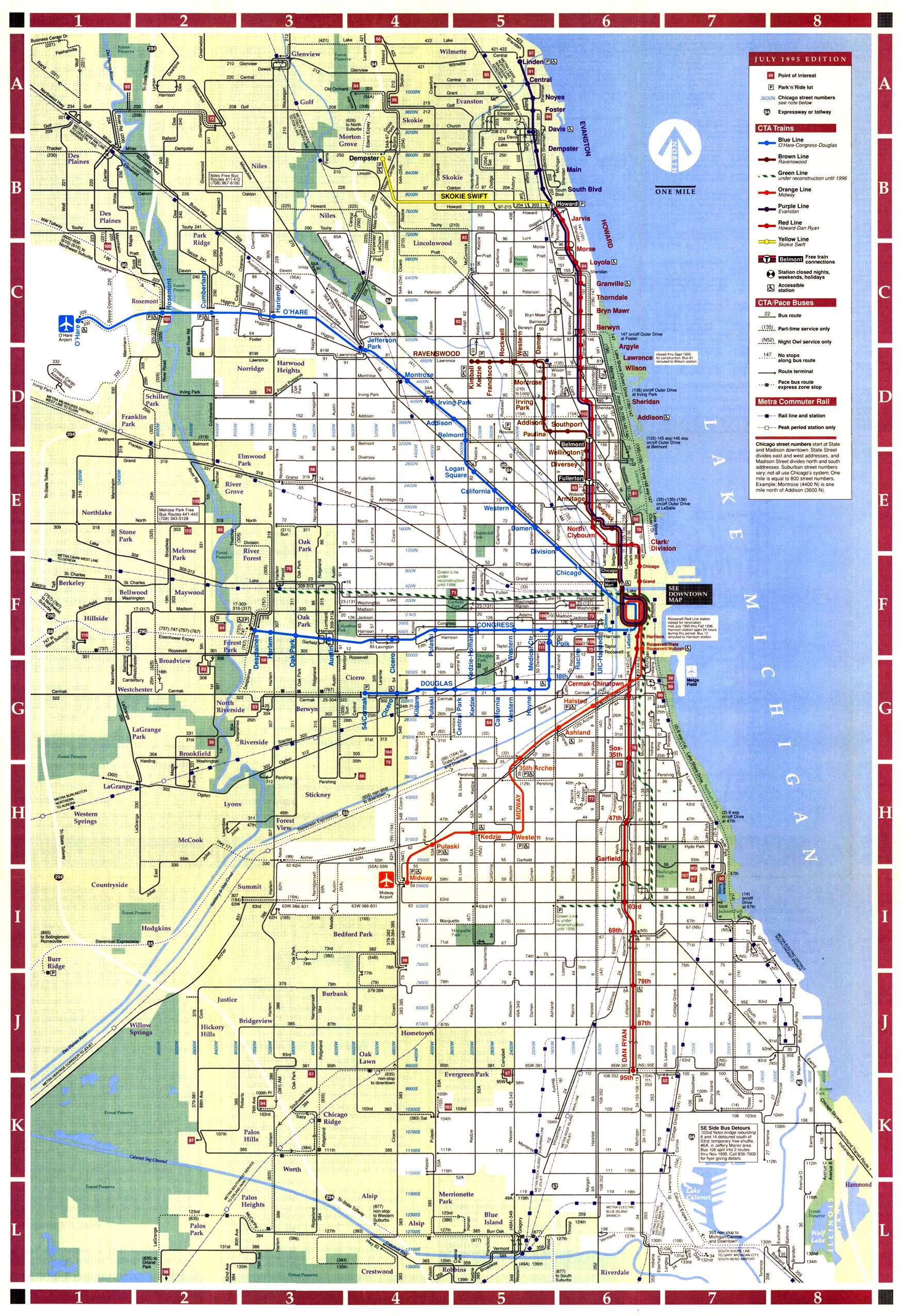601b600e3374528e150d5e753d02fa6b 1995 cta map maps in 2018 pinterest chicago map, map and chicago