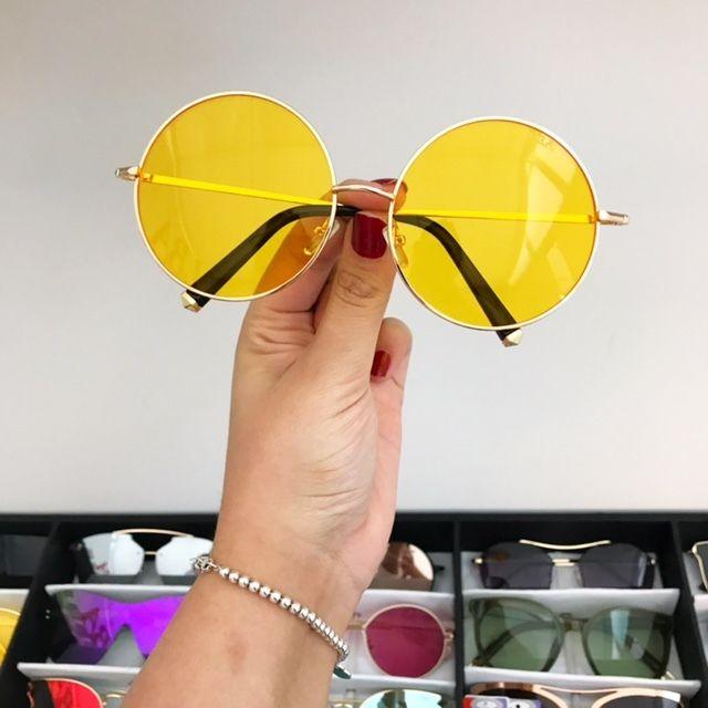 dc982146c Oculos Round Big Amarelo Transparente   glasses   Óculos, Óculos ...