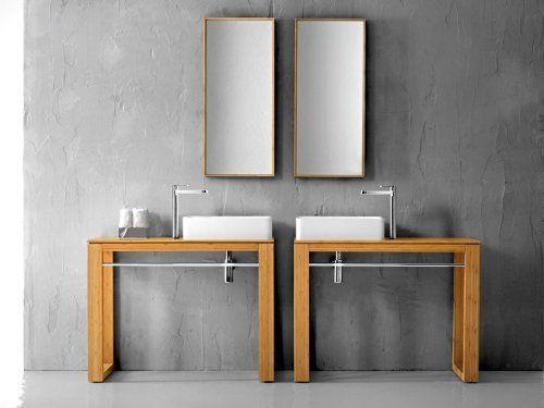 badm bel aus holz bambus ist am besten badezimmer pinterest waschtisch waschtisch. Black Bedroom Furniture Sets. Home Design Ideas