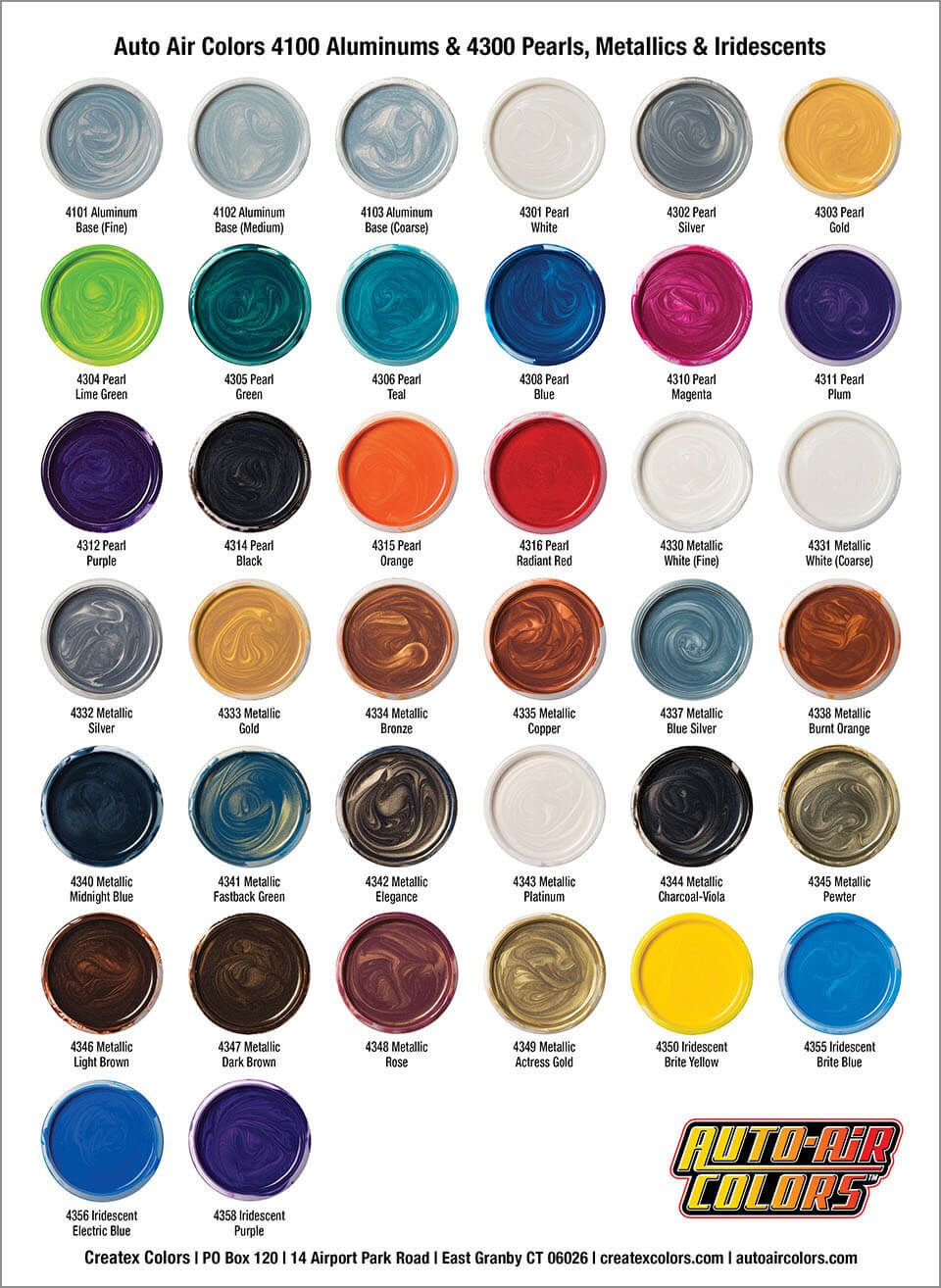 Auto air color charts airbrush paint direct in 2020 car