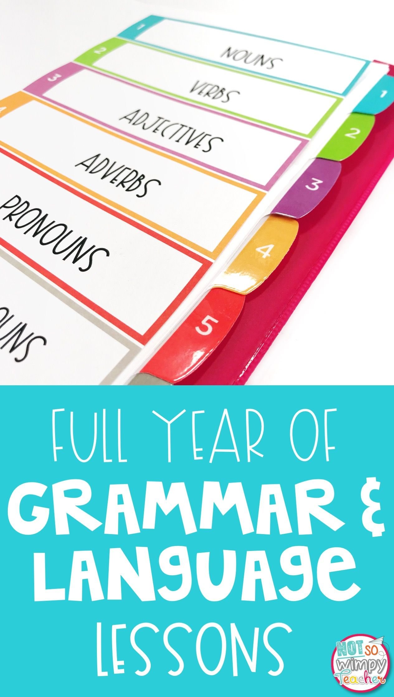 Grammar Third Grade Activities Year Long Bundle