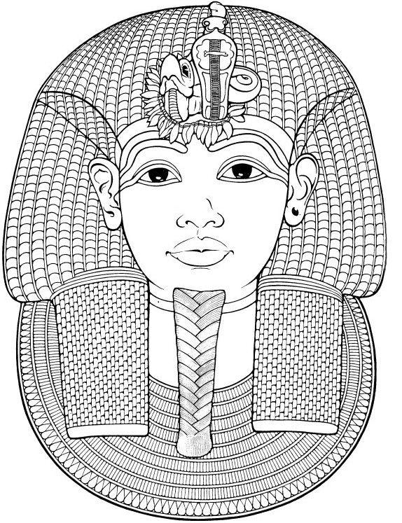 Ägypten: Totenmaske von Toutankhamon | coloring 3 | Pinterest ...