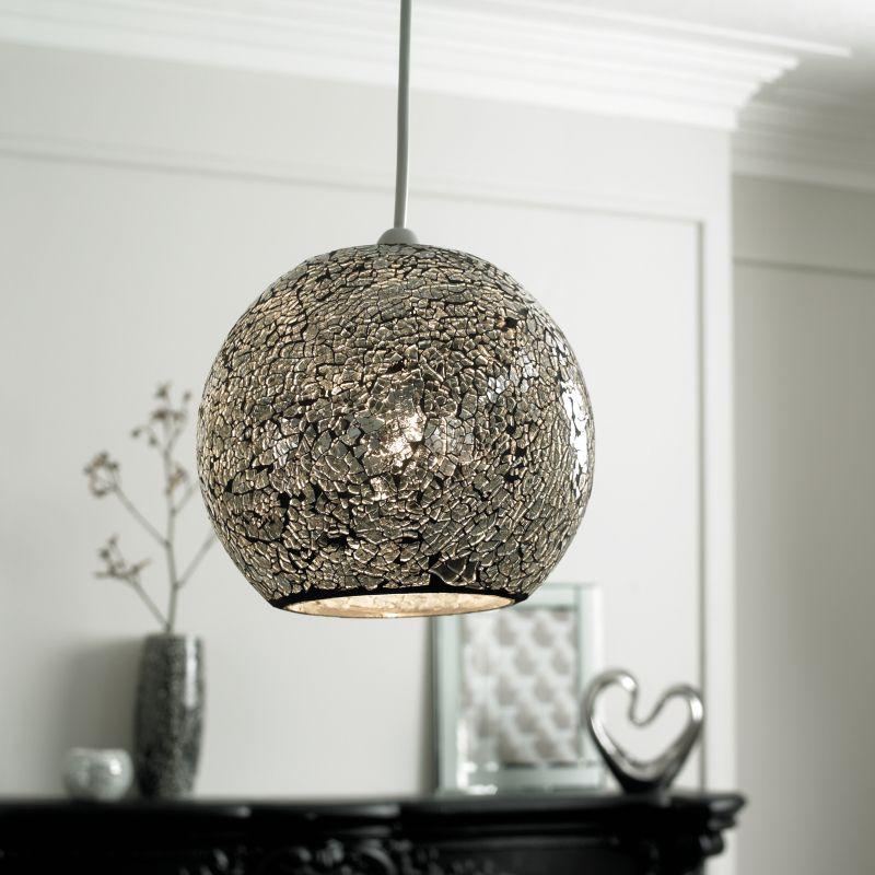 George Home Silver Mosaic Pendant Light