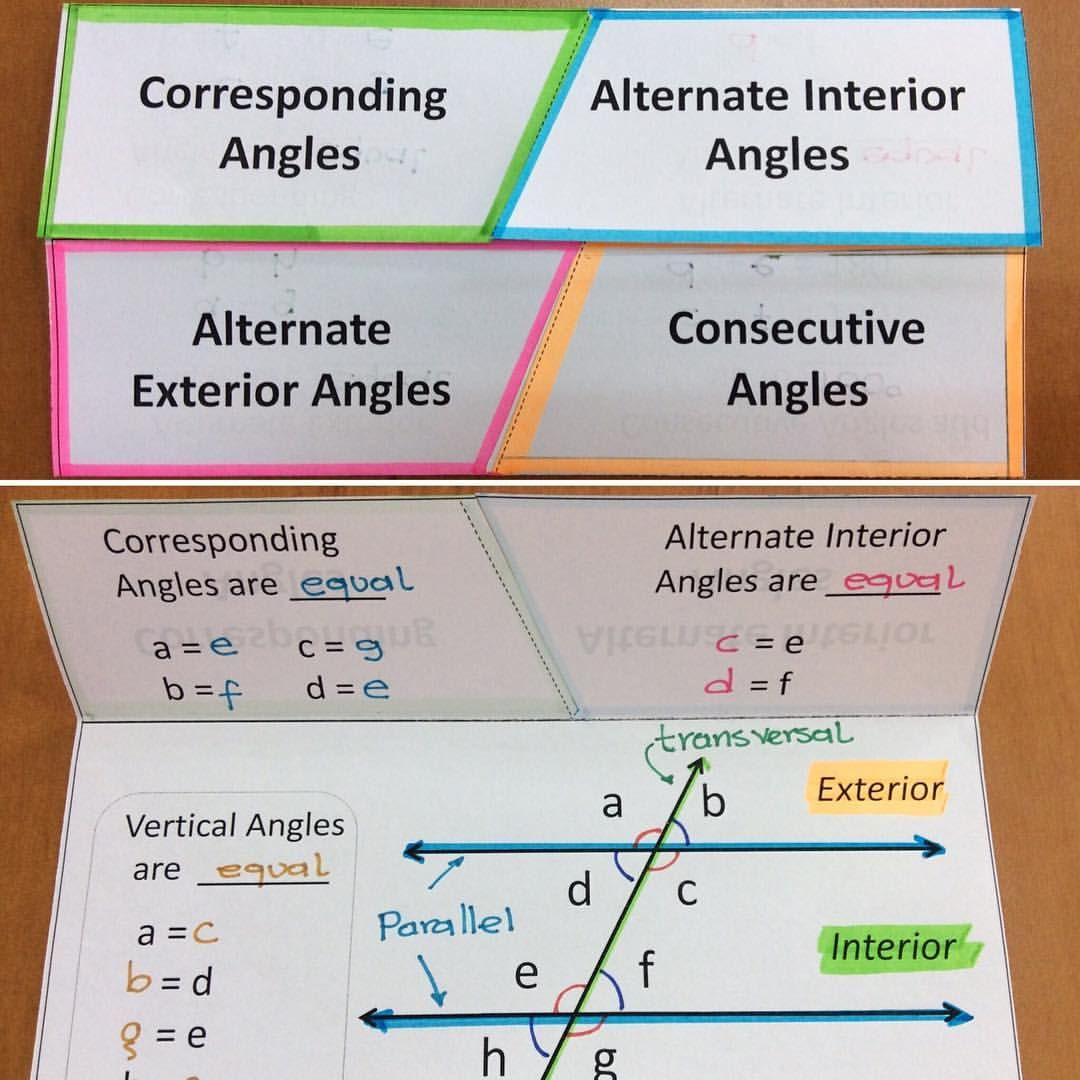 New Foldable Angles And Parallel Lines Now Available In