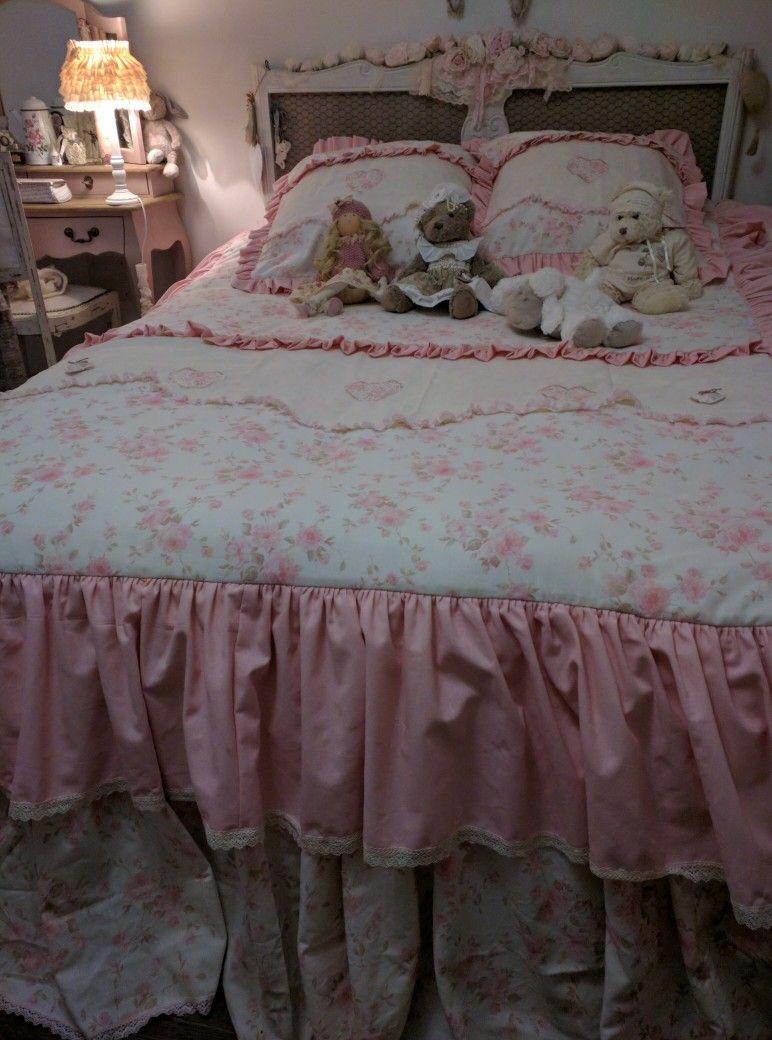dessus de lit shabby linge de maison charme ancien pinterest linge de maison dessus de. Black Bedroom Furniture Sets. Home Design Ideas