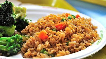 Chinese Vegetable Rice Recipe طريقة عمل أرز صيني مع الخضار Vegetarian Recipes Big Meals Cooking Recipes
