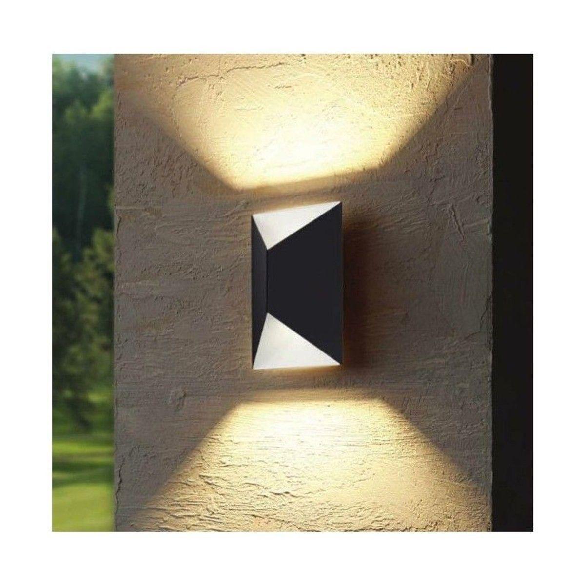 Eclairage Exterieur Mural Puissant applique triangulaire extérieure predazzo led h21 cm ip44