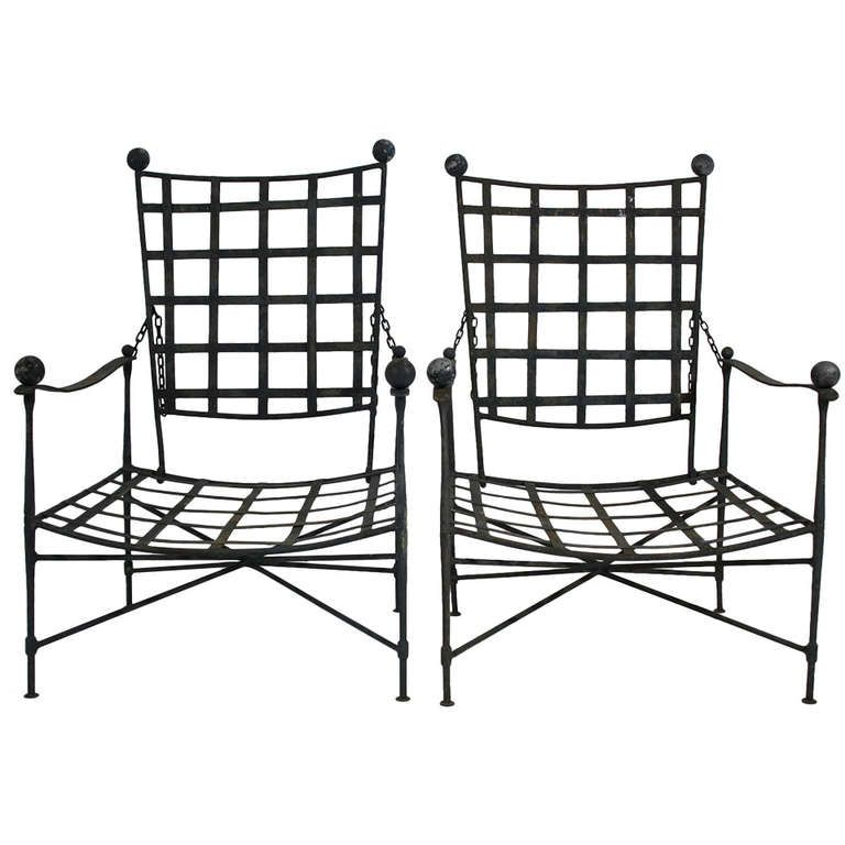 Pair of Salterini Lounge Chairs | From a unique collection of antique and modern lounge chairs at http://www.1stdibs.com/furniture/seating/lounge-chairs/