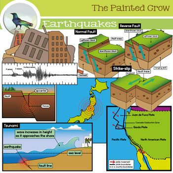 Earthquake Clip Art Set Earth Science Geoscience