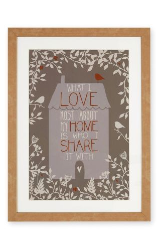 Buy Framed Home Print from the Next UK online shop | My home wish ...