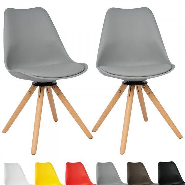 2 X Esszimmerstuhle Kunststoff Holz Bh57gr 2 Esszimmerstuhle Esszimmerstuhle Design Stuhle