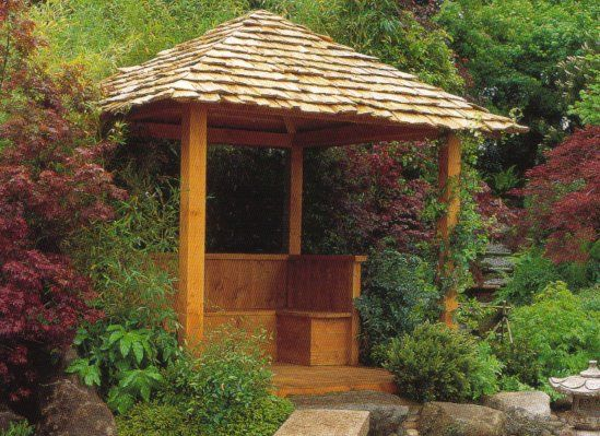Small japanese tea house after a bit of research i for Japanese garden room