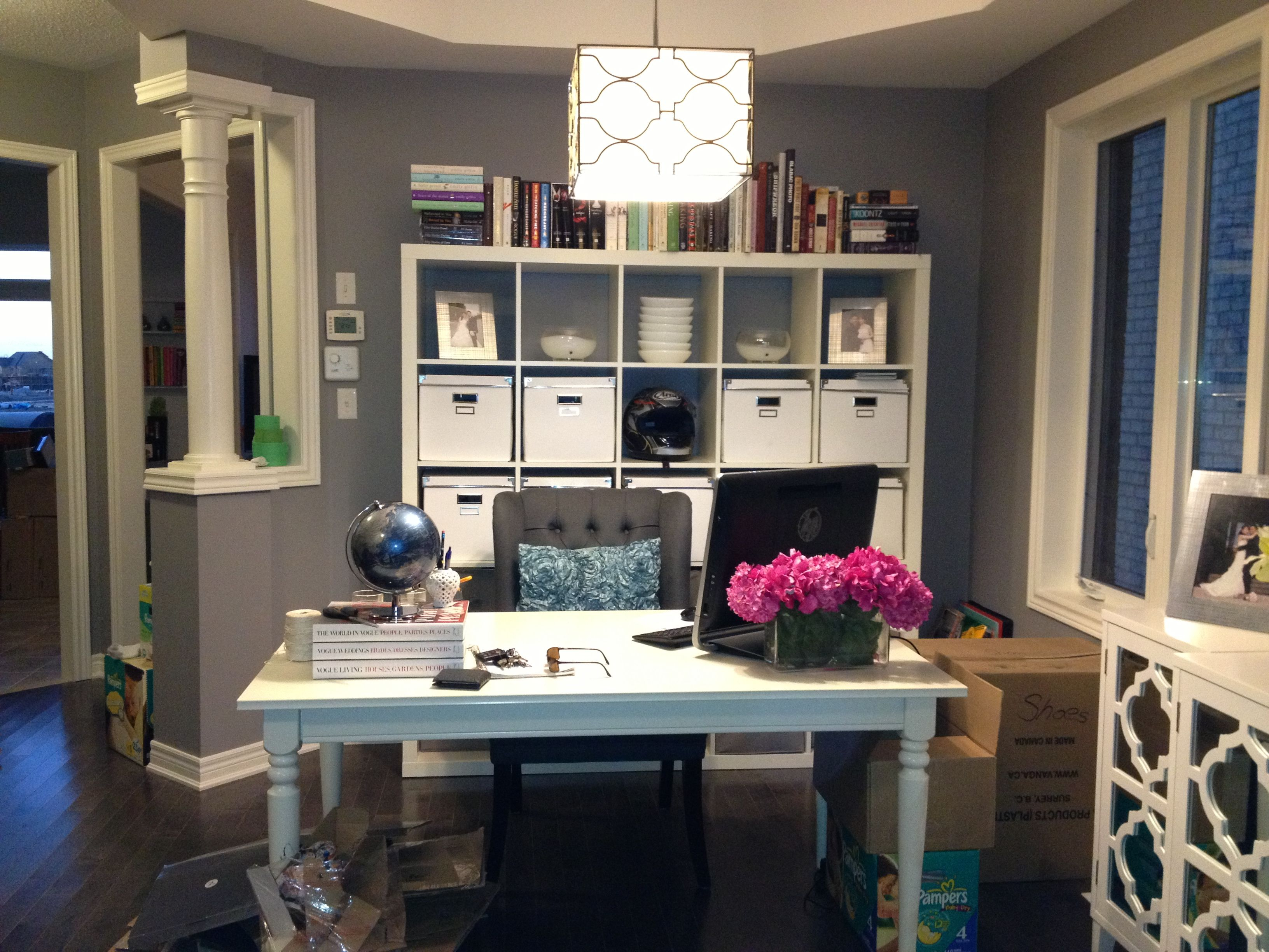 office in dining room. Office Nook - Ikea Ingatorp Table In Dining Room O