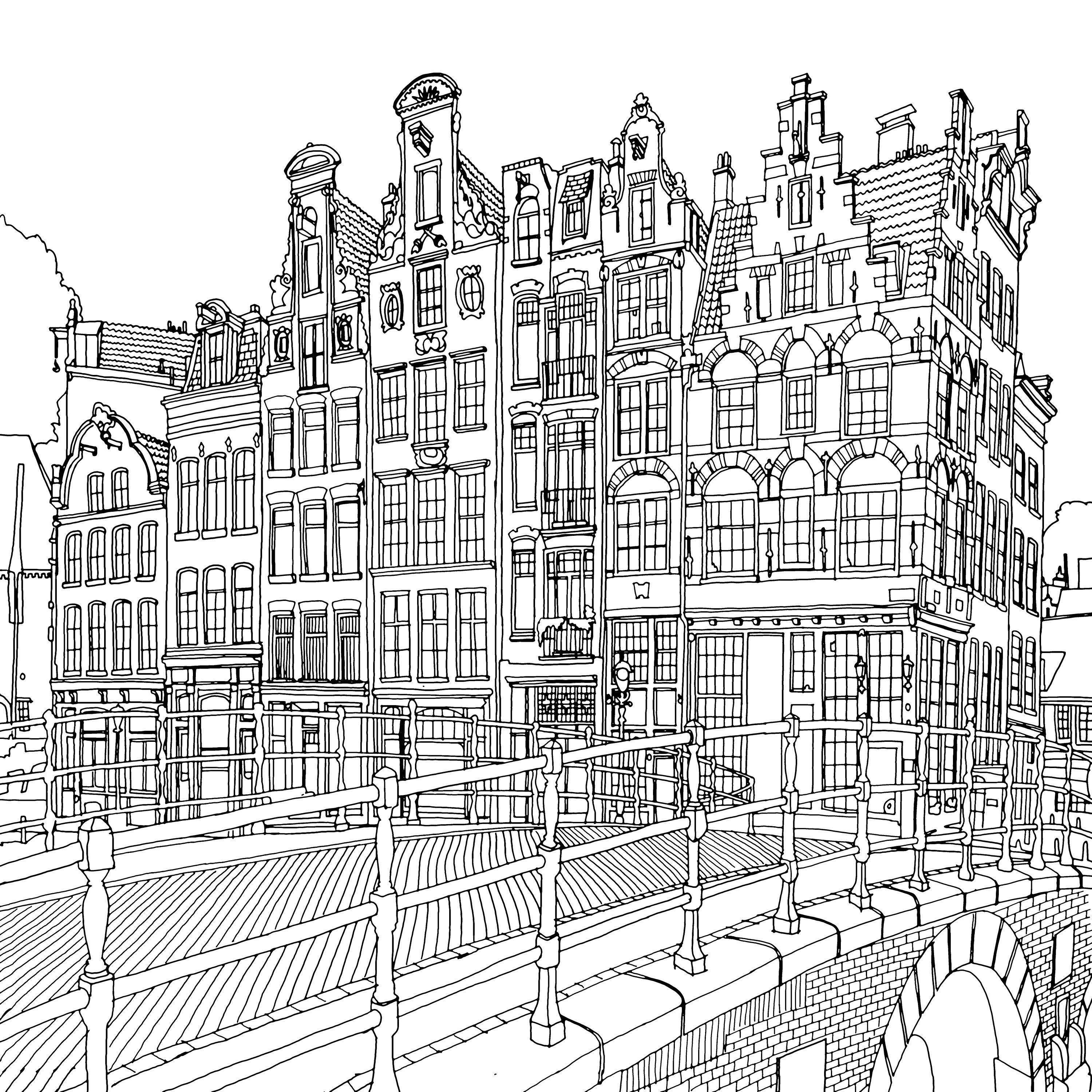 Fantastic Cities The Most Intricate All Ages Colouring Book Yet Fantastic Cities Coloring Book Coloring Books Coloring Pages