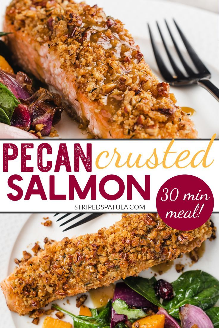 Photo of Pecan Crusted Salmon with Dijon-Maple Bourbon Glaze