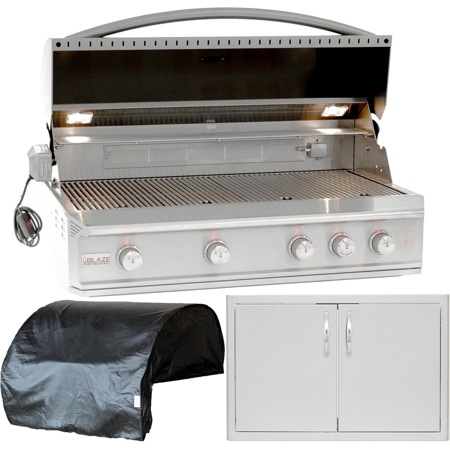 Blaze Outdoor Products Professional 3 Piece 44 Propane Gas Outdoor Kitchen Package Blz 4pro Lp 4probicv Blz Ad40 R Outdoor Kitchen Design Kitchen Appliance Packages Basic Kitchen