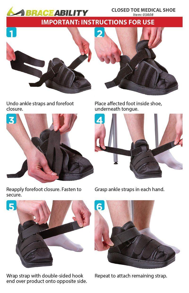 Closed Toe Medical Walking Shoe / Foot