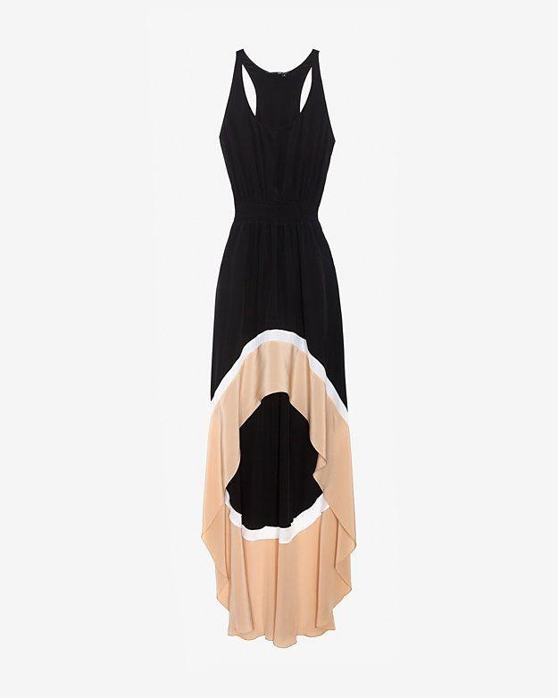 Jay Godfrey Colorblock Hi/Lo Dress-Dresses-Clothing-Categories- IntermixOnline.com