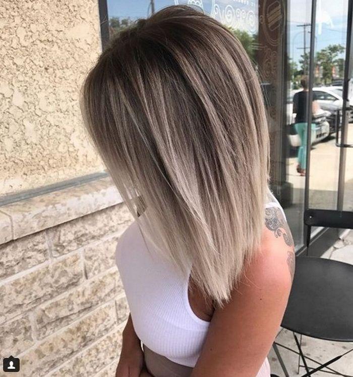 Edgy Haarfarbe 2019 Neue Frisuren Haarfarben Aschblond Haarfarbe Ombre Haare Farben