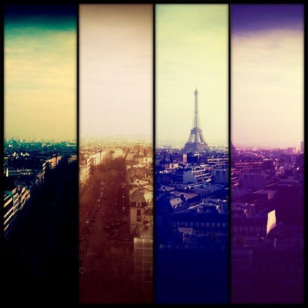 Look for the Eiffel Tower - Paris (Arc du Triomphe)