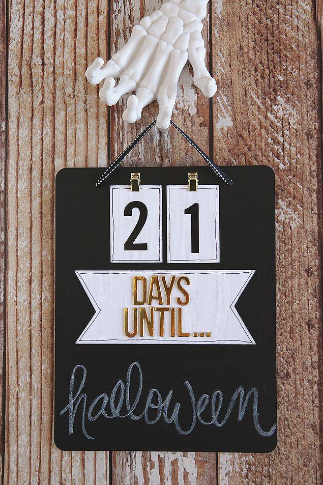 DIY Chalkboard Countdown Board DIY Halloween Pinterest - holiday closure sign template