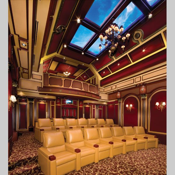Extravagant home theater with balcony in the cayman for The balcony film