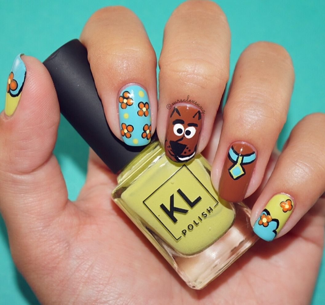 Scooby Doo Nail Art And I Would Have Gotten Away With It Too