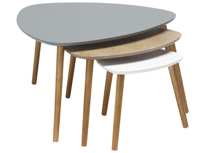 Lot De 3 Tables Gigognes Agnes Vente De Table Basse Conforama Tables Gigognes Table Gigogne Ikea Table Basse Conforama