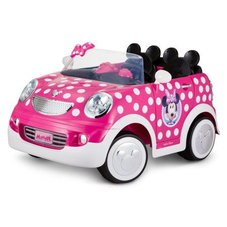Disney Minnie Mouse Hot Rod Coupe Ride-On Toy by Kid Trax, 12 Volt, pink - Walmart.com