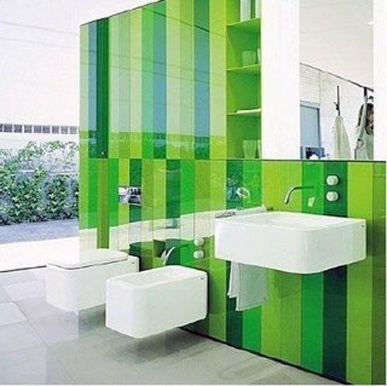Decoracion De Bano En Color Verde Decoracion De Banos Modernos