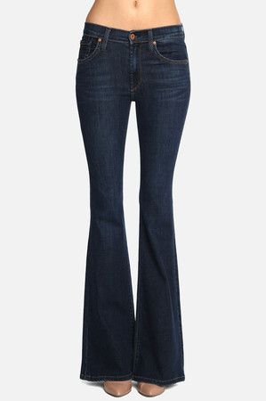 The Bella Perfect Fit and Flare Jeans in Fetch by James Jeans at CoutureCandy.com
