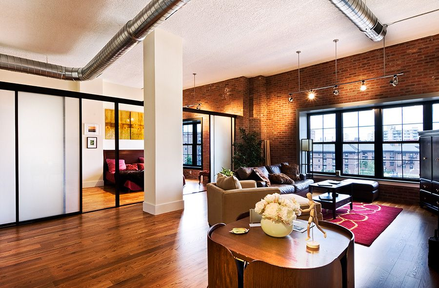 Love the exposed brick. Apartment guide, Apartments for