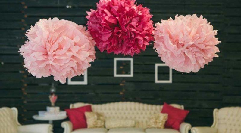 Como fazer pompom de papel  veja tutoriais e dicas para decorar ... 72c92d63601