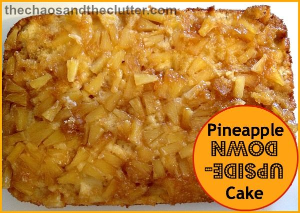 Pineapple Upside Down Cake - 1 can drained pineapple tidbits, 1/2 cup melted butter, 1 1/2 cups brown sugar, 2 Tbsp. maple syrup,1/2 cup soft butter, 1 cup sugar, 2 eggs, 1 1/2 tsp. vanilla, 3/4 cup milk, 1 3/4 cups flour, 1 Tbsp. baking powder+