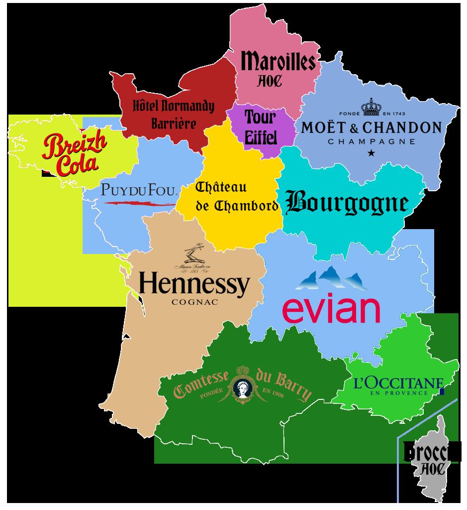 CARTE. Quels sponsors pour les régions françaises? Carte