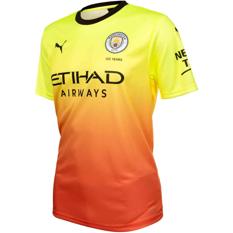 Puma Official Kids Manchester City FC Stadium Football Shirt Jersey Top Purple