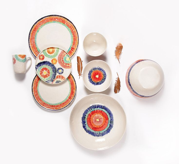 Verano Dinnersets - Cosyu0026Trendy Included among our bright-coloured dinnerware is Verano with its cheerful exciting pattern.  sc 1 st  Pinterest & Verano Dinnersets - Cosyu0026Trendy Included among our bright-coloured ...