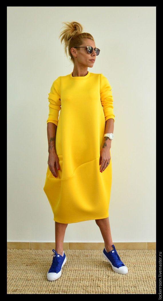 000f0c542f4 Платье туника ComfortNeo (Yellow) - купить или заказать в интернет-магазине  на Ярмарке Мастеров
