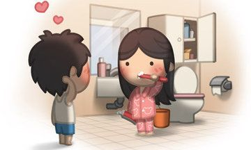 """Awe!!  Aren't these little cartoon drawings from a husband to his wife just the sweetest things you ever did see?  I........LOVE......THESE.......ILLUSTRATIONS!!  Go ahead...try not to say """"AWE!"""" when you check them out!  I'll double dog dare you that you can't!!  #ROMANCE  #SUPERSWEET  #JAMBERRYDANCE"""