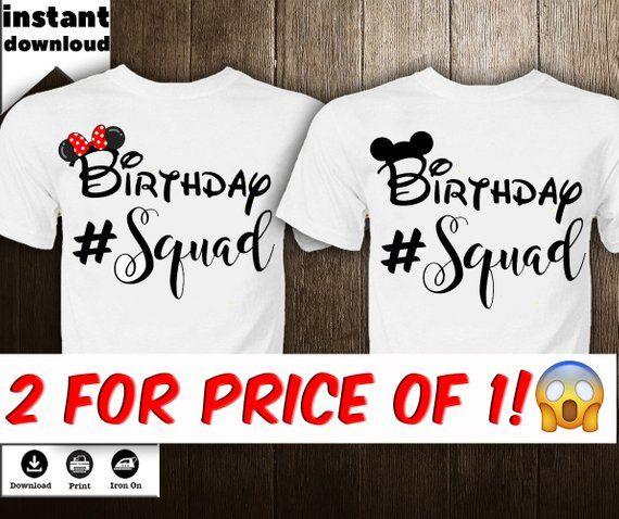 79204f5ef Mickey Mouse Iron on Transfer Disney Birthday Disney Family Shirt Birthday  Squad Birthday Decor Iron