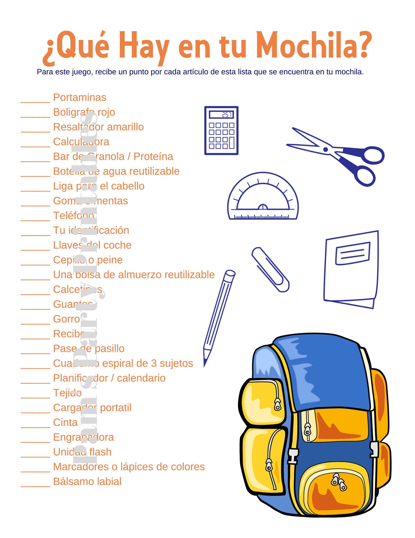 What S In Your Backpack Que Hay En Tu Mochila