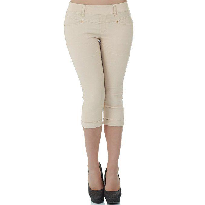 jetzt kaufen letzte auswahl von 2019 Entdecken Sie die neuesten Trends malucas Damen Capri Hose Hüfthose 3/4 Knielang Shorts Kurze ...