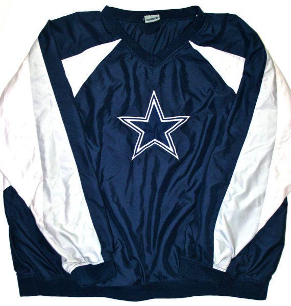 buy online a9de3 6ca48 Vintage Dallas Cowboys Windbreaker Jacket Mens Size XXL ...